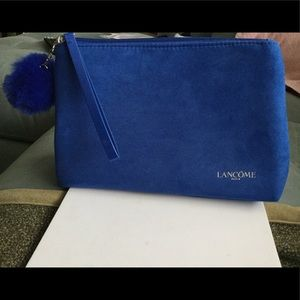 Brand New Lancôme Blue Suede makeup bag